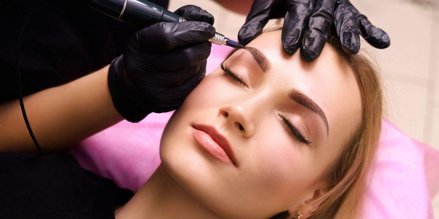 Eyebrows permanent makeup procedure