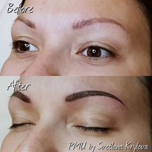 before after eyebrows
