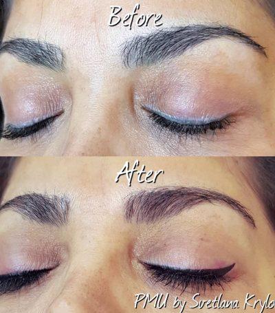 permanent eyeliner result